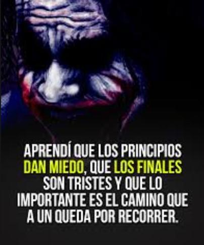 Los principios dan miedo